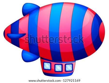 Illustration of a colorful spaceship on a white background - stock vector