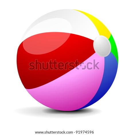 illustration of a colorfull beach ball, eps 8 vector - stock vector