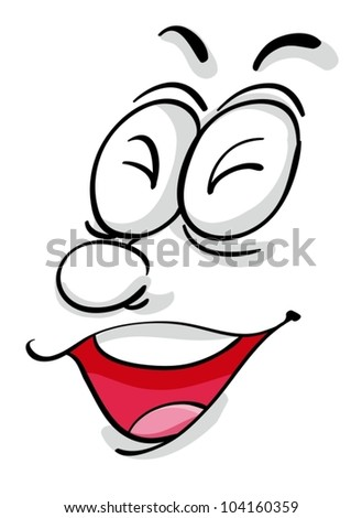 Illustration of a comical facial expression - stock vector