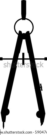 illustration of a compass - stock vector