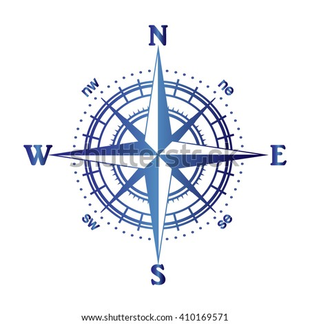 Illustration Compass Rose Stock Vector 2018 410169571 Shutterstock
