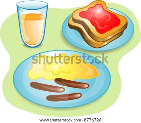 Scrambled Eggs And Sausage Stock Vectors & Vector Clip Art ...