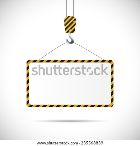 Illustration of a construction road sign isolated on a white background. - stock vector