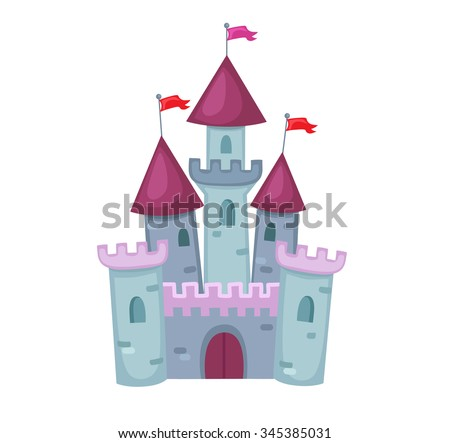 Illustration of a Cute  Castle.