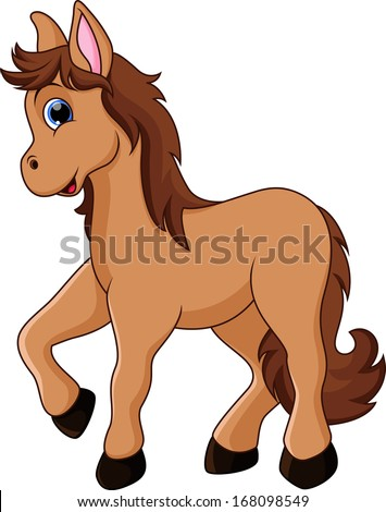 illustration of a cute horse
