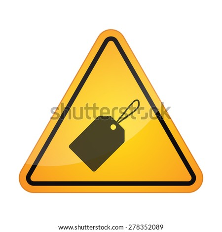 Illustration of a danger signal icon with a product label - stock vector