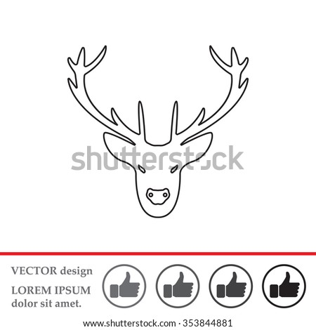 Moose Face Icon 442313728 in addition Drwings I Like likewise Fancy Reindeer Cliparts moreover Stock Illustration Deer Silhouettes additionally Deer tattoo. on reindeer head clip art