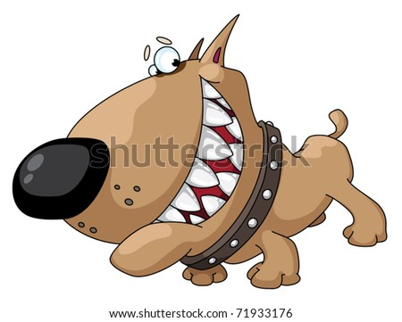 illustration of a dog smile - stock vector
