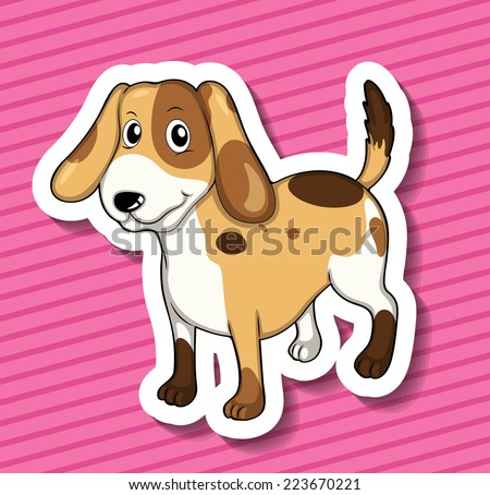 Illustration of a dog standing - stock vector