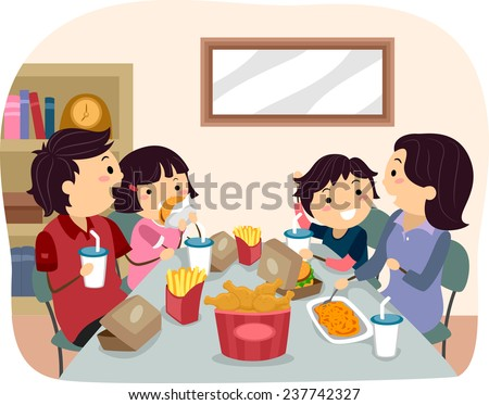 Restaurant Clip Art Family Fast Food