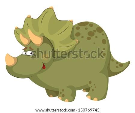 illustration of a fat dinosaur - stock vector