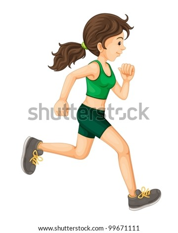 Illustration of a fit woman - stock vector