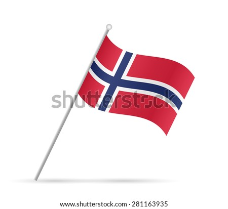 Illustration of a flag from Norway isolated on a white background. - stock vector