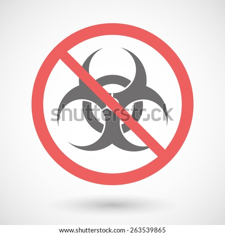 Illustration of a forbidden signal with a biohazard sign - stock vector