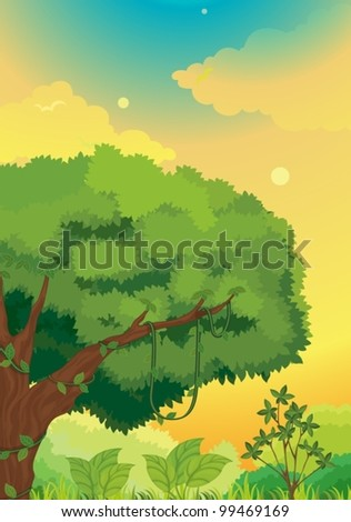 Illustration of a forest background