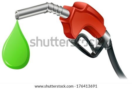 Illustration of a fuel pump on a white background - stock vector