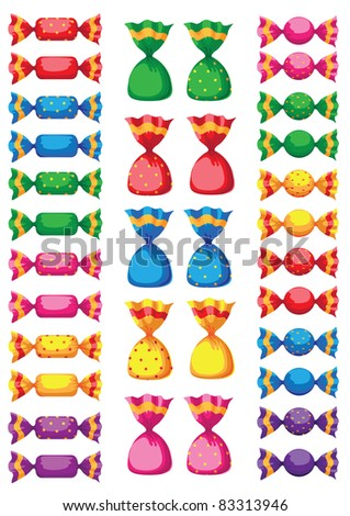 illustration of a funny sweets candy - stock vector