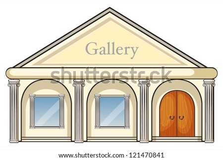 illustration of a gallery on a white background - stock vector
