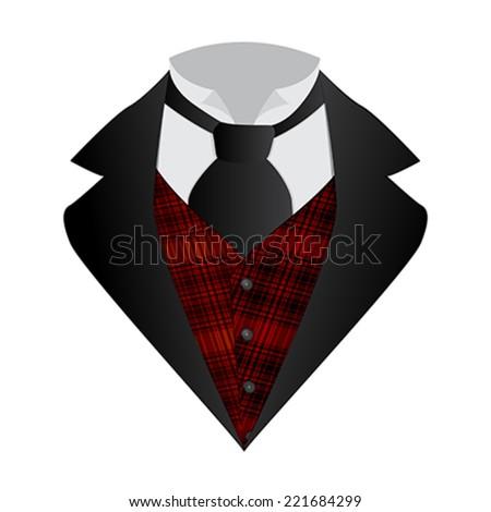 Illustration of a gentlemen elegant tie suit - stock vector