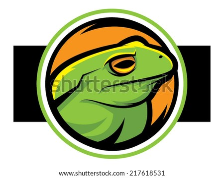 Illustration of a green frog mascot/Frog Vector - stock vector