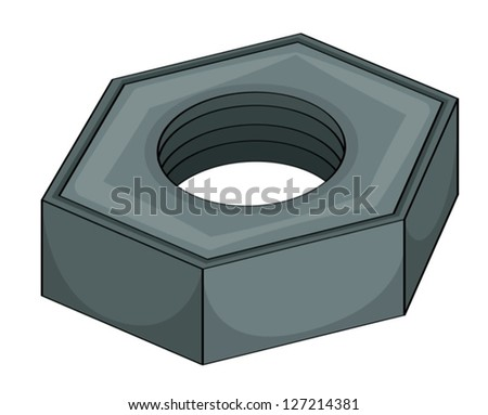 illustration of a grey nut on white background
