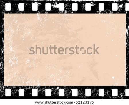 Illustration of a grunge filmstrip frame - stock vector