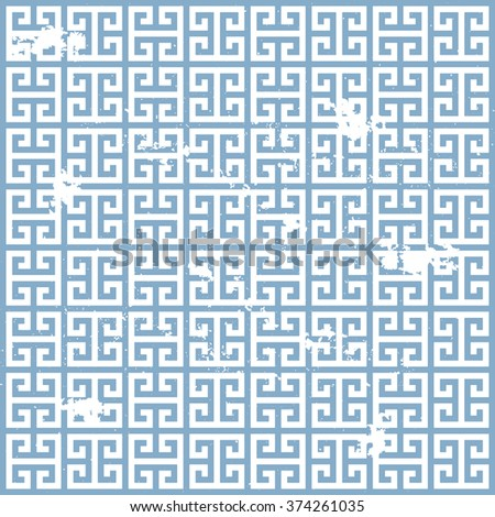 illustration of a grungy ancient greek pattern, eps10 vector - stock vector