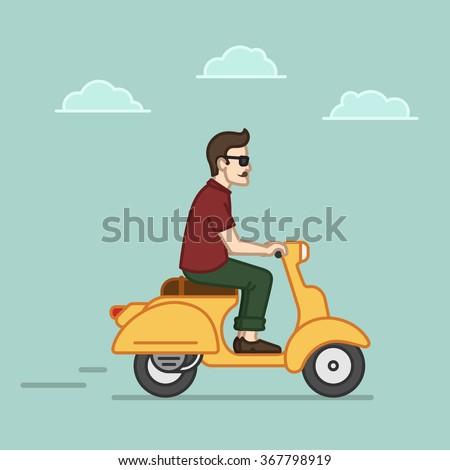 Gambar Kartun Sedang Naik Motor - Gambar Motor