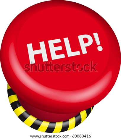 illustration of a help button - stock vector