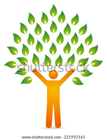 Illustration of a human tree - stock vector