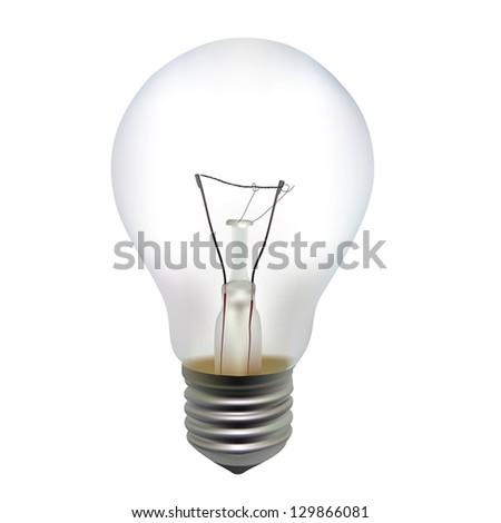 Illustration of a incandescent light bulb - stock vector