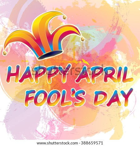 Illustration of a jester hat. April Fools Day. vector illustration - stock vector