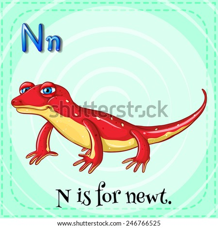 the letter n newt stock vectors amp vector clip 25177