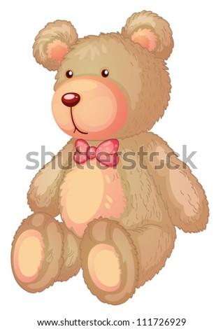 Illustration of a light brown bear - stock vector