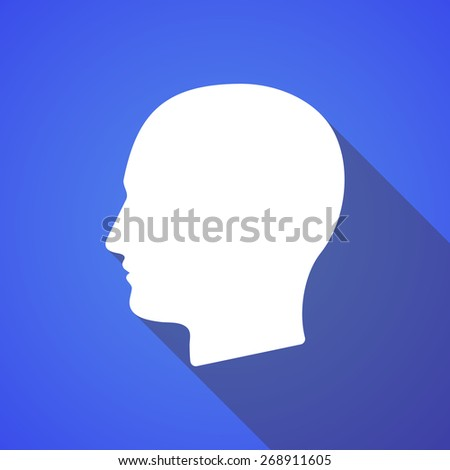 Illustration of a long shadow man head icon
