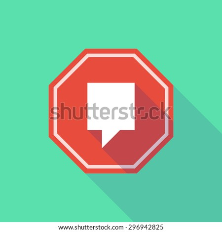 Illustration of a long shadow stop signal with a tool tip - stock vector