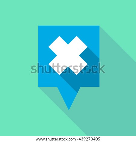 Illustration of a long tooltip icon with an irritating substance sign - stock vector