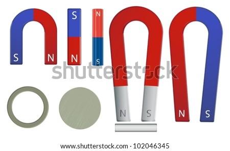 Illustration of a magnet set - stock vector