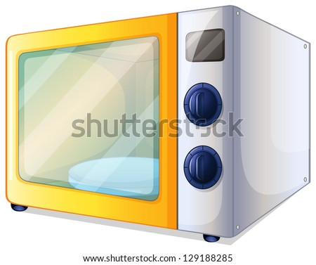 Illustration of a microwave on a white background - stock vector