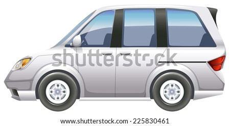 Illustration of a minivan on a white background