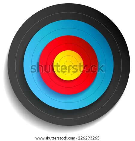 Illustration of a multi color target - stock vector