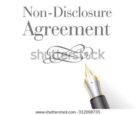 illustration of a Non-Disclosure Agreement Letter with fountain pen - stock vector
