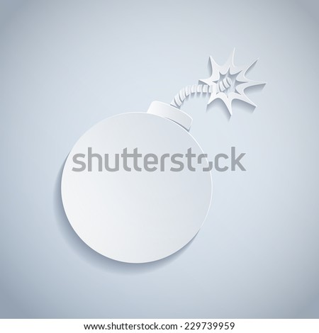 illustration of a paper bomb - stock vector