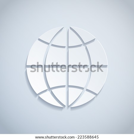 Illustration of a Paper Globe - stock vector