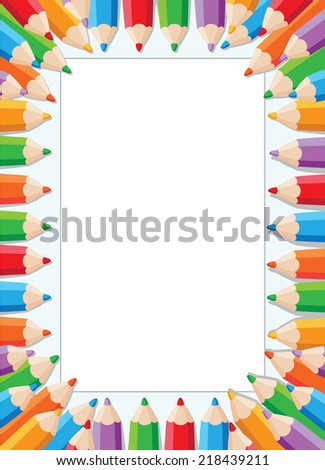 illustration of a pencils card - stock vector