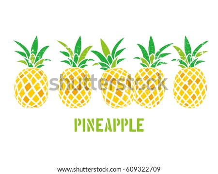 Illustration of a pineapple