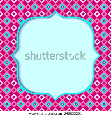 Illustration of a pink geometric background - stock vector