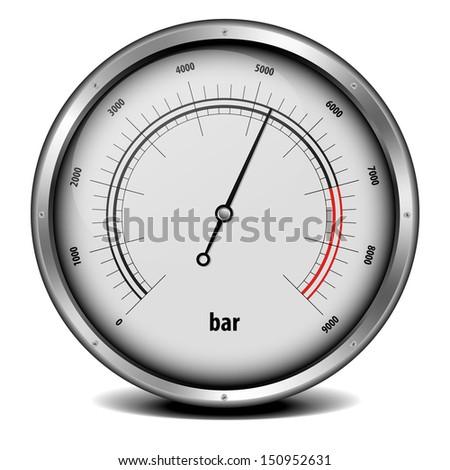 illustration of a pressure meter gauge - stock vector