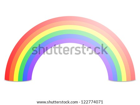 illustration of a rainbow isolated on white