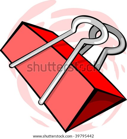 Illustration of a red paper clip